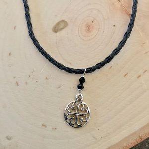 Jewelry - BOGO Black braided choker pendant